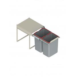 Pojemnik na śmieci 40 JC602 niski 2x15l