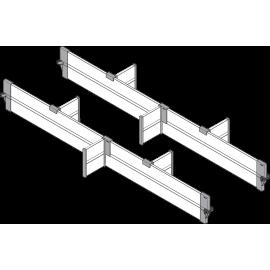 BLUM ORGA-LINE zestaw listew poprzecznych do szuflad intivo ZFL.90BUS6 czarny*