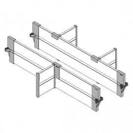 BLUM ORGA-LINE zestaw listew poprzecznych do szuflad intivo ZFL.45BUS6 biały*