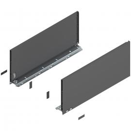 Bok szuflady legrabox wys. F, dł. 550mm, antracyt 770F5502S lewy/prawy
