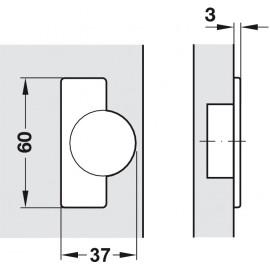 Zawias Hafele metalla 311.90.500 drzwi nakładane